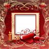 marco para fotos romanticos con corazon rojo