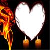marcos para fotos con corazon y dos velas