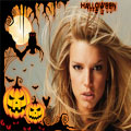 fotomontaje para halloween con calabazas