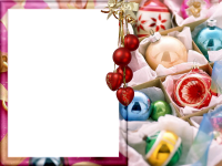 fotomontaje con bolas de navidad