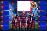fotomontaje futbol club barcelona calendario 2016