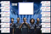 montaje de fotos calendario real madrid 2016