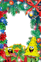 marcos para fotos de navidad con bob esponja