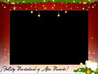 fotomontaje de navidad y ano nuevo
