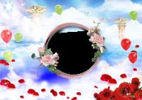 marcos para fotos globos y rosas