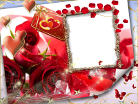 fotomontajes rosas rojas