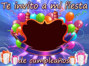tarjeta invitacion feliz cumpleanos