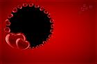 marcos para fotos de corazones rojos